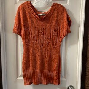 Maurice's Burnt Orange Short Sleeve Sweater Top M